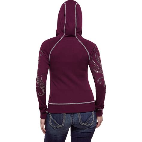 knit hoodie ariat stud waffle knit hoodie for 8972p save 69
