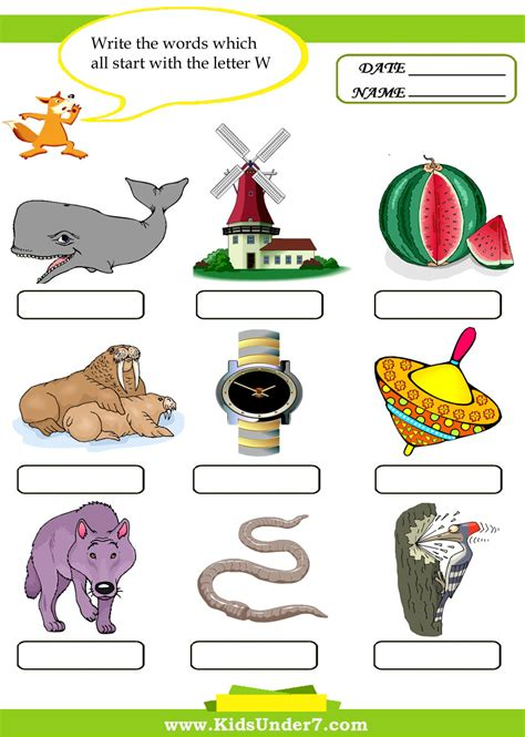4 Letter Words Preschool clipart for words that start with a jaxstorm realverse us