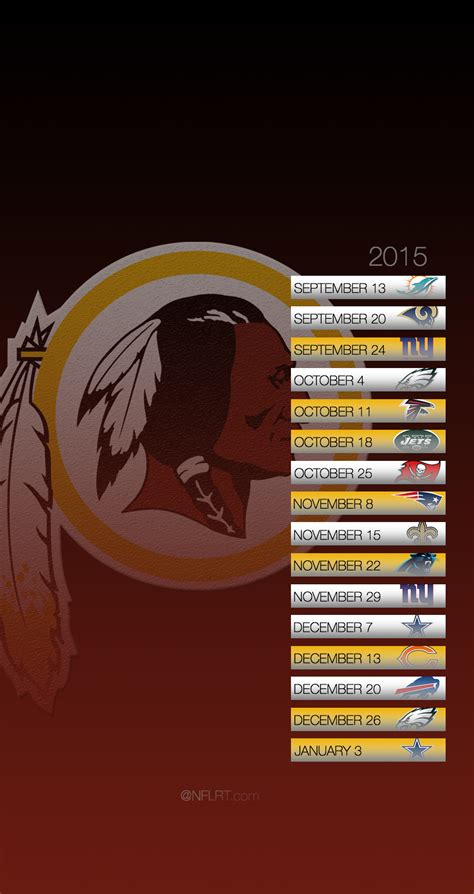 Redskins Home Schedule by 2015 Nfl Schedule Wallpapers Page 2 Of 8 Nflrt