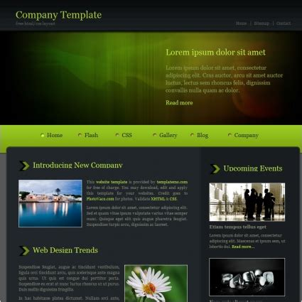 company profile format free pacegez over blog com company green free website templates in css html js