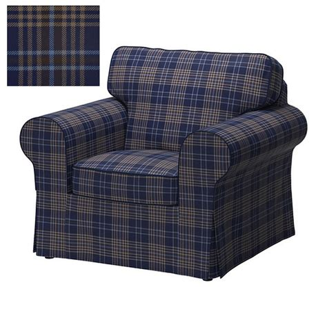 Armchair Caps Covers by Ikea Ektorp Armchair Cover Chair Slipcover Rutna Multi Blue Plaid