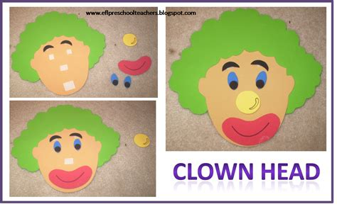 clown template preschool esl efl preschool teachers theme