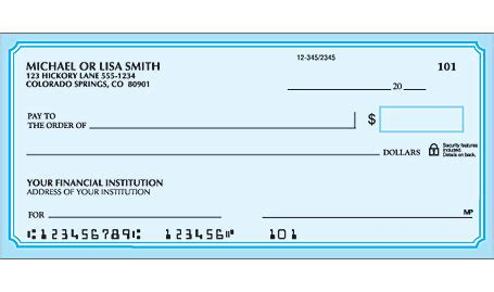 Confidential Background Check Blue Classic Checks Personal Check Designs Checks