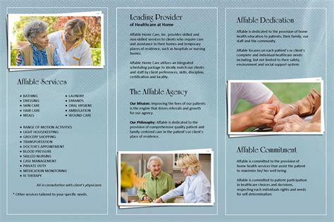home health care brochure templates affable home health care brochure brochures