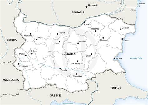 map  bulgaria political bulgaria