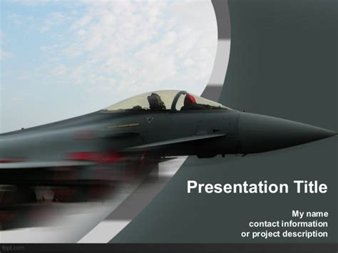 air force powerpoint background and template for aerospace