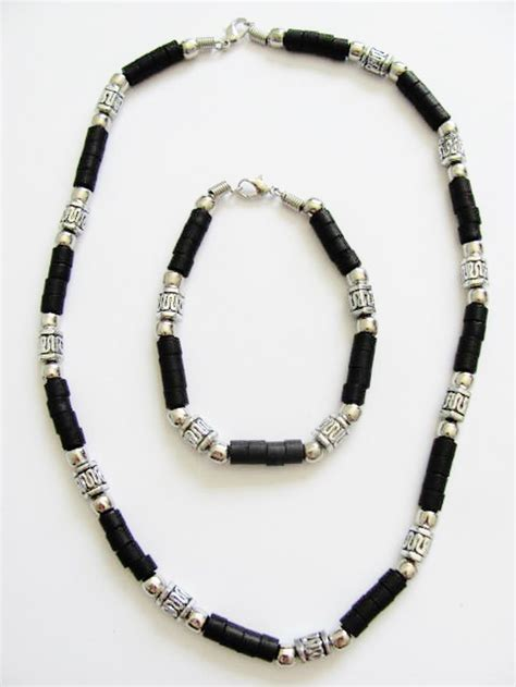 mens bead necklaces cancun chrome brown s bead necklace