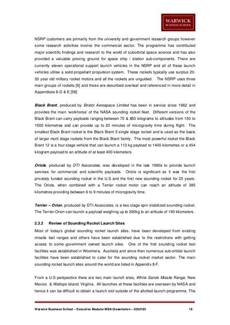 mba dissertation space tourism mba dissertation