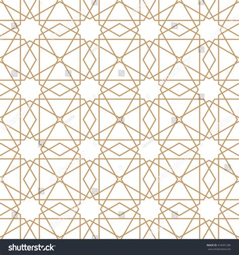 islamic geometric pattern design vector islamic pattern seamless ornament vector repeating stock