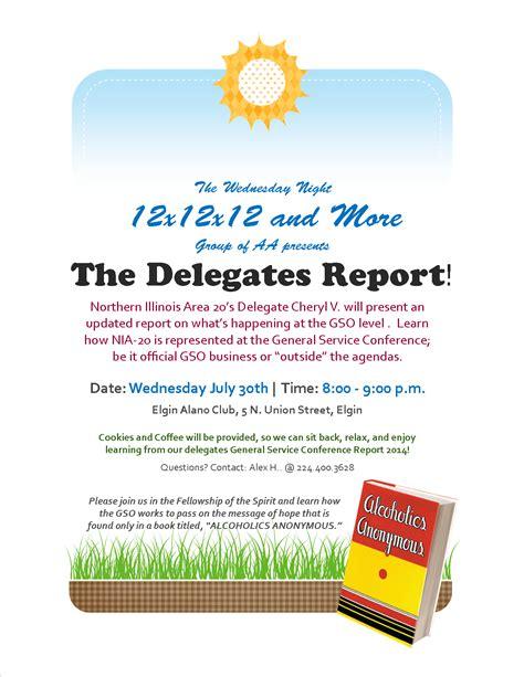 Reports Of The Delegates upcoming events nia 20 delegates report elgin alano club
