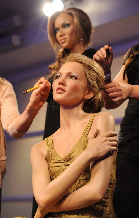 Kate Moss Gets Waxed by Banks In Kate Moss And Banks Wax Figures Zimbio
