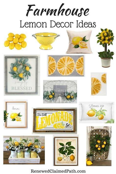 farmhouse lemon decor inspiration ideas lemon kitchen