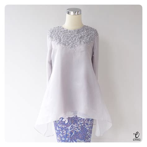 Dress Wanita Lace Brukat simple sleeve lace top kebaya modern indonesia