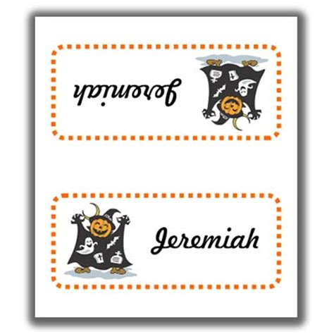 Sided Place Card Template by Place Cards