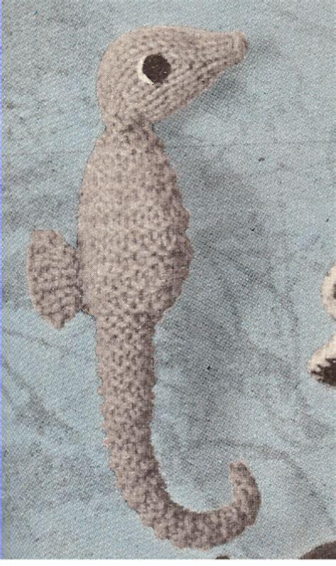 how to knit stuffed animals seahorse sea stuffed animal knitting pattern ebay