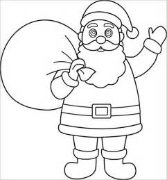 santa template 31 colouring pages free jpeg png eps format
