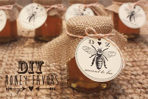 Wedding Favors Honey Jars by Sugar And Chic Diy Honey Favors