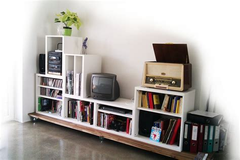 Living Room Media Storage Ideas Stacking Besta For Media Storage Ikea Hackers Quot