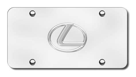 Lexus Vanity Plate by Lexus Chrome Logo License Plates Vanity Logo Tags