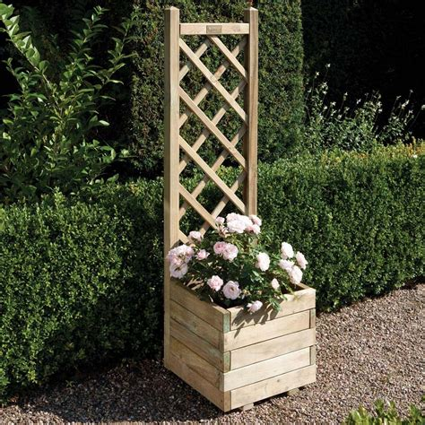 Planter With Lattice by 1 5 X 1 5 Ft Wooden Square Garden Planter Lattice Panel