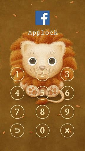 applock themes mobile9 download applock theme lovely lion google play softwares