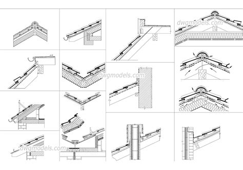 roof section details dwg file free autocad