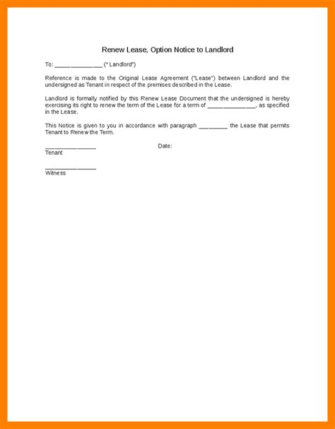 Letter Template For Lease Extension 6 Renewal Notice Letter Resume Sections