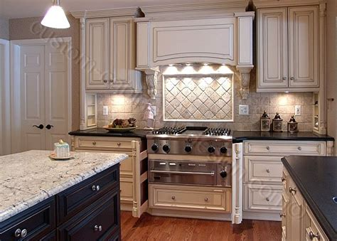 Kitchen Glazed Cabinets White Kitchen Cabinets With Glaze Home Design And Decor Reviews