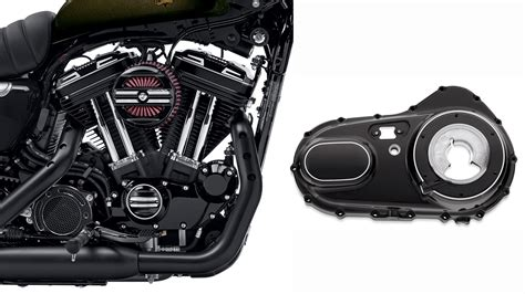 Cover Busi Sportster Black Genuine new rail engine covers give harley s sportster edgy attitude