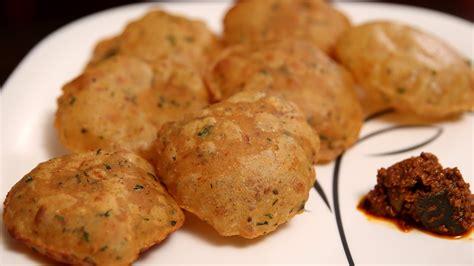 hing kachori aloo puri recipe popular breakfast snack recipe ruchi
