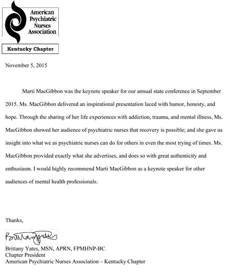 Recommendation Letter Format Ppt Letters Of Recommendation Marti Macgibbon Inspirational Speaker Motivational Speaker