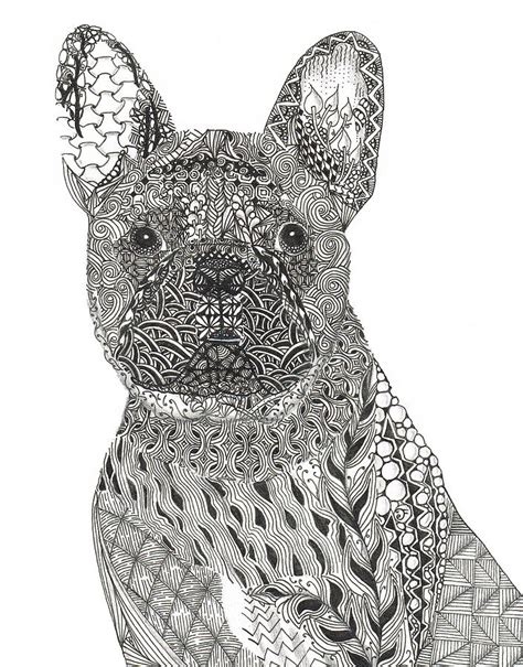 zentangle patterns printable animals zentangle animals zentangle inspired french bull dog
