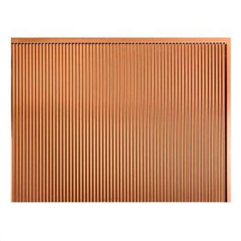 Thermoplastic Panels Kitchen Backsplash by Fasade 24 In X 18 In Rib Pvc Decorative Backsplash Panel
