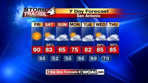For Ten Days In San Antonio by News 4 Woai Weather Weather Forecast For San Antonio Woai