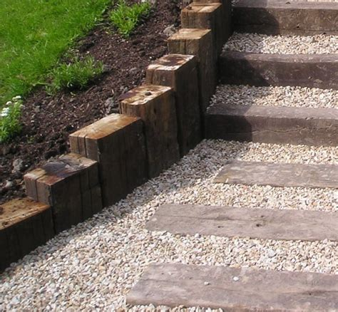 Railway Sleepers Landscaping by Railway Sleepers Front Garden Search