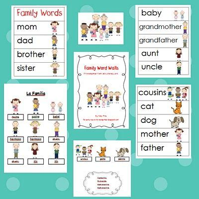 themes for english units 25 best ideas about kindergarten family unit on pinterest