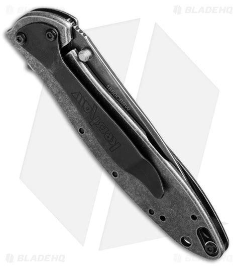 kershaw leek blackwash kershaw leek composite assisted opening knife 3