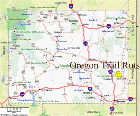 map of oregon trail in wyoming wyoming landmarks oregon trail ruts