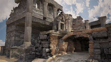 description of the ruins of an ancient city discovered near palenque in the kingdom of guatemala in america translated from the original teatro critico americano or a critical inve books low poly 3d model of the ruins of the ancient city