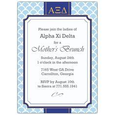 Bid Day Card Sorority Template Maker by Kappa Delta Parents Day And Brunch Invitations On