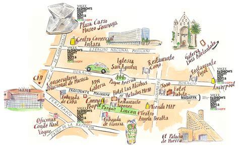 mexico city map mexico zocalo map