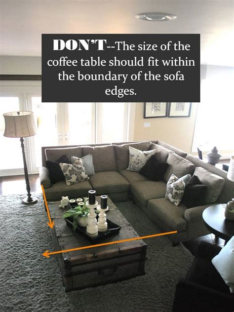 how to place a coffee table with reclining sofa design guide how to style a sectional sofa confettistyle