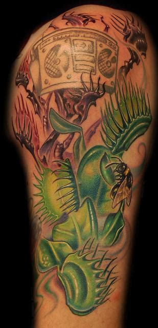 trap tattoos by marvin silva tattoos color venus fly trap