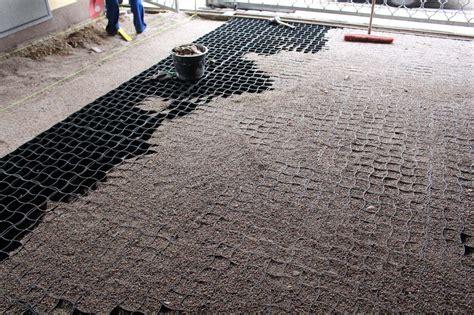stein teppich verlegung des bodengitter bg50 zur herstellung eines
