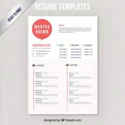 modern resume template vector free