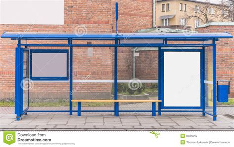 Outdoor Shelter Plans Bus Stop With A Billboard Stock Photo Image Of Marketing