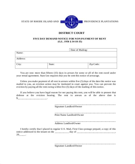sle eviction notice to tenant in india sle eviction notice template 17 free documents in