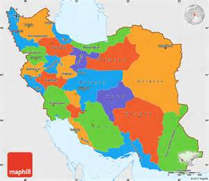 political color map of us political simple map of iran single color outside