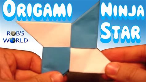 Origami Rob S World - how to make an origami shuriken