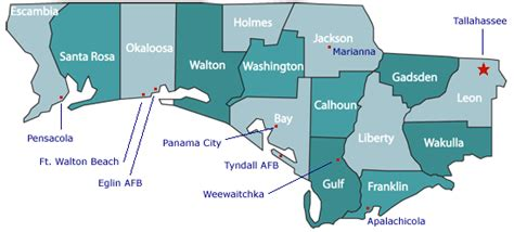map of the panhandle of florida map of panhandle and west map of florida panhandle counties my blog